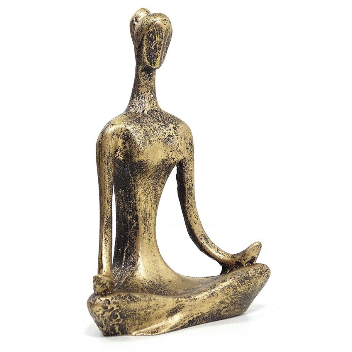 Estatueta - Yoga - Ouro Envelhecido