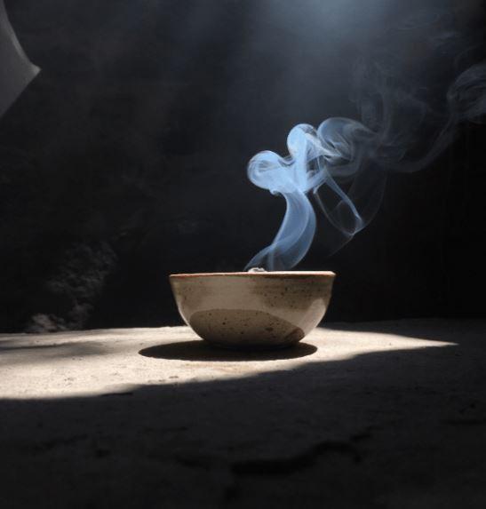 Incenso com Incensário Cerâmica Donburi - Santo Incenso