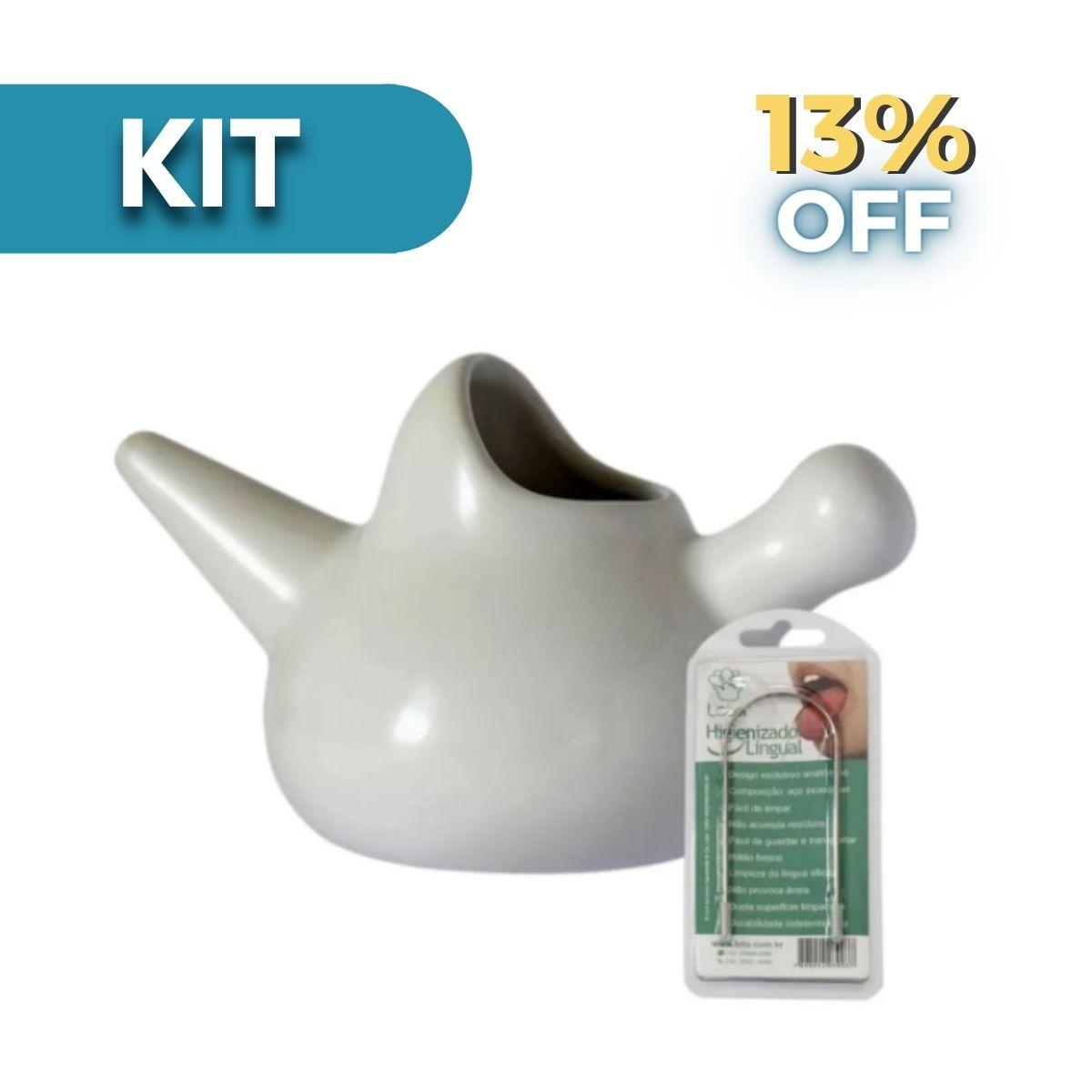 Kit Limpeza Natural: Lota + Higienizador Lingual