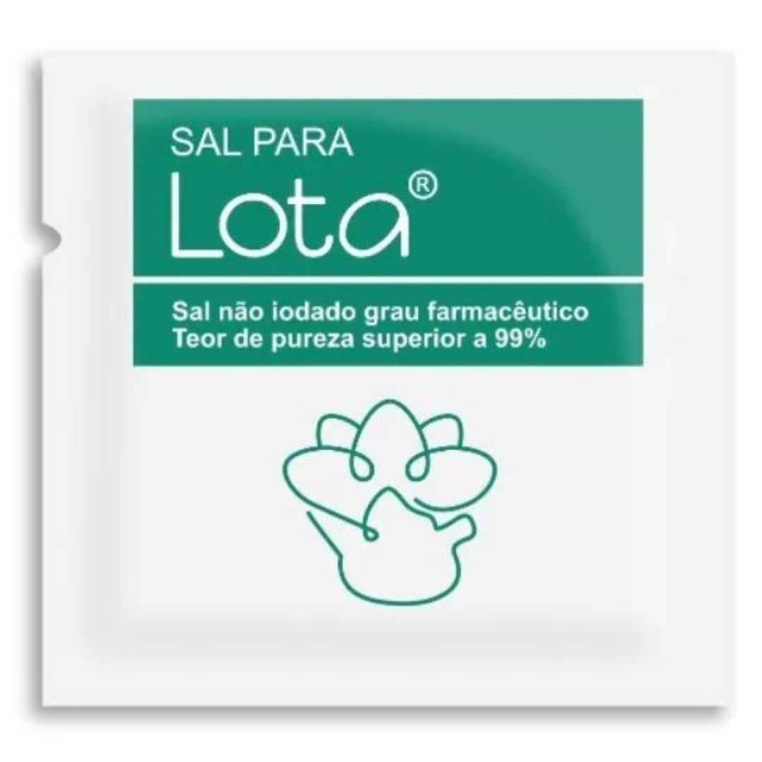 Kit - Lota + 30 sachês de sal + Higienizador Lingual