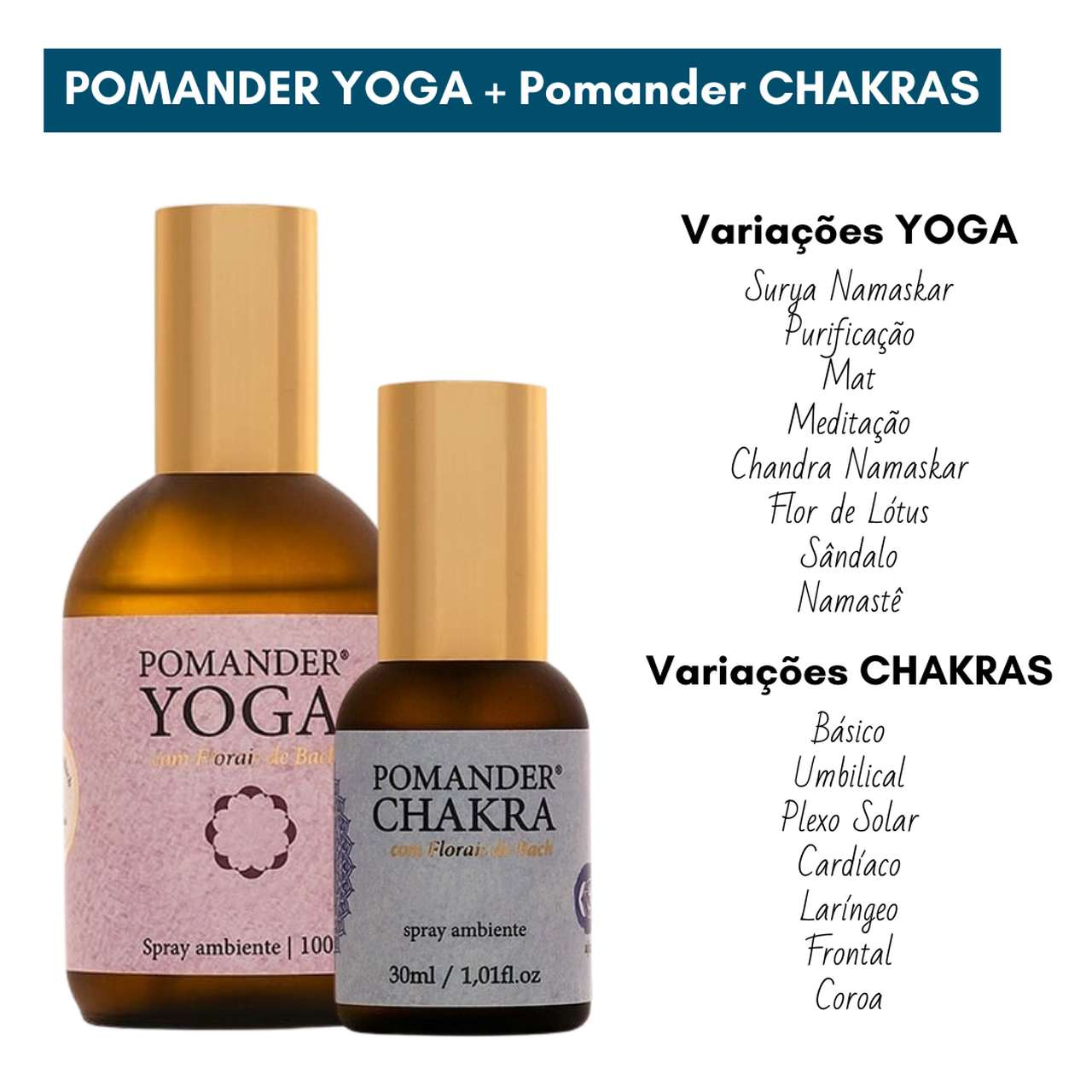 Kit Pomander Yoga 100ml  e Pomander Chakras 30ml