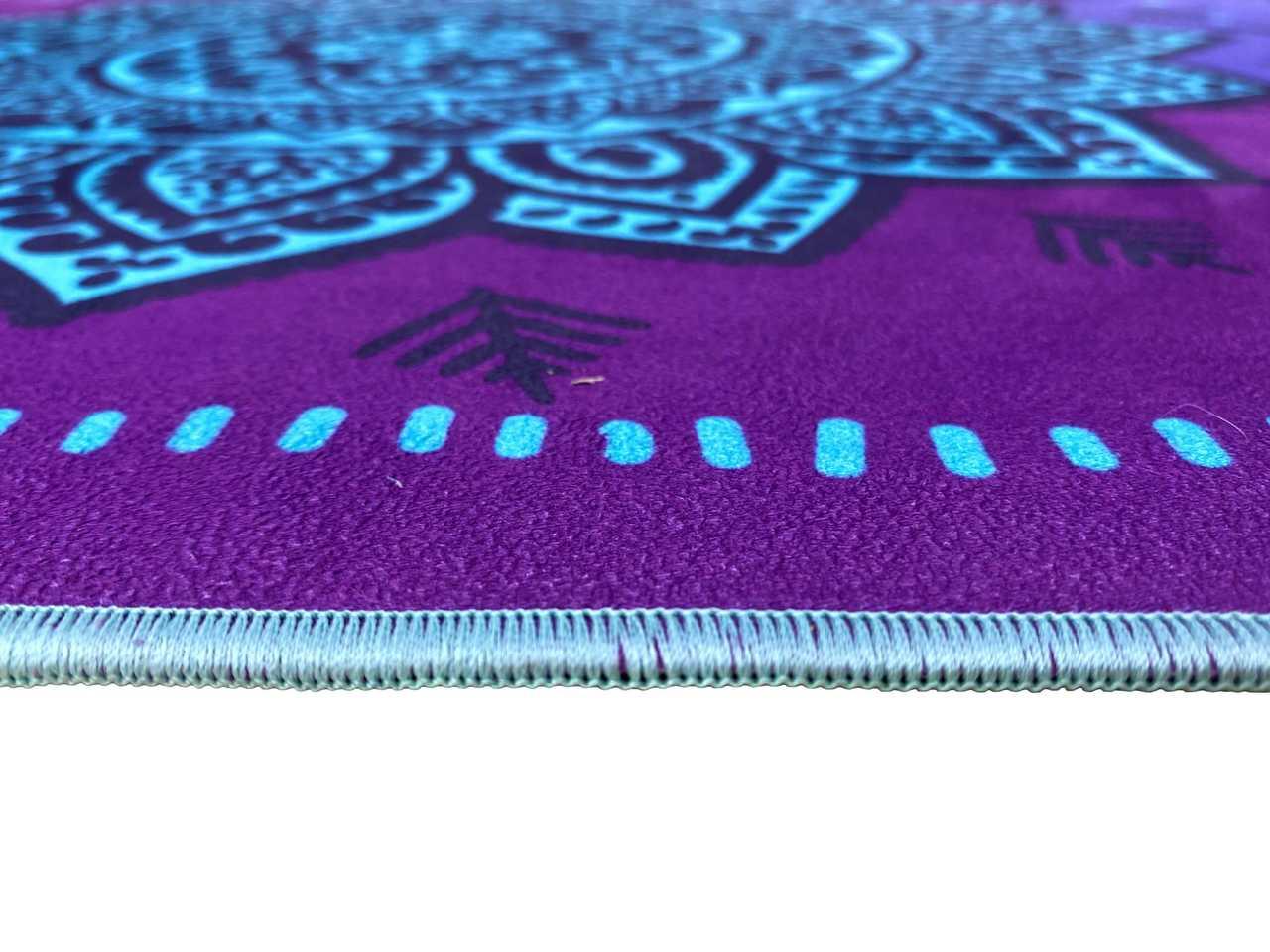 Kit Tapete Estampado Aveludado e Bolsa Porta Mat - Fases da Lua