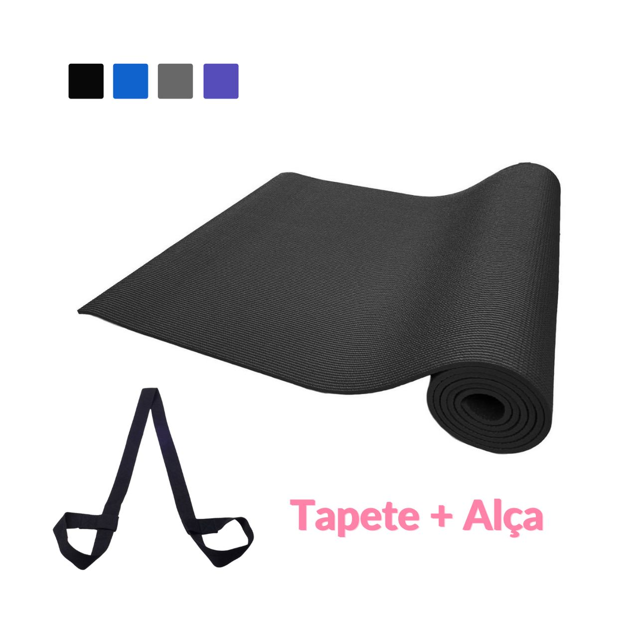 Kit: Tapete PVC Yoga & Pilates + Alça Porta Mat