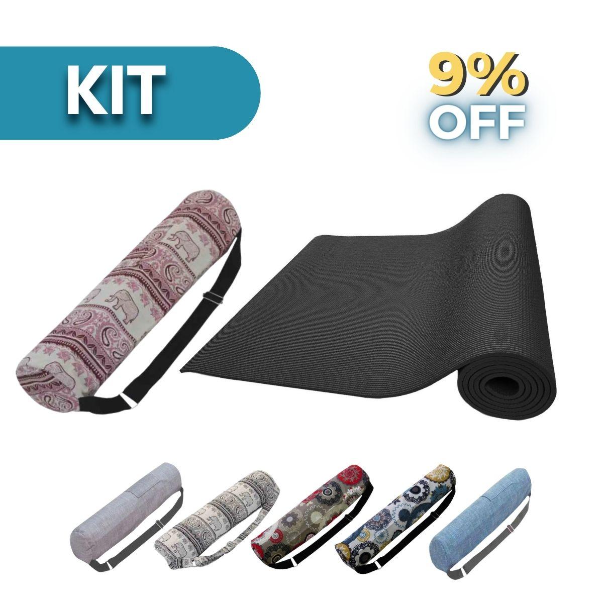 Kit Yogi: Tapete Yoga + Bolsa Porta Mat