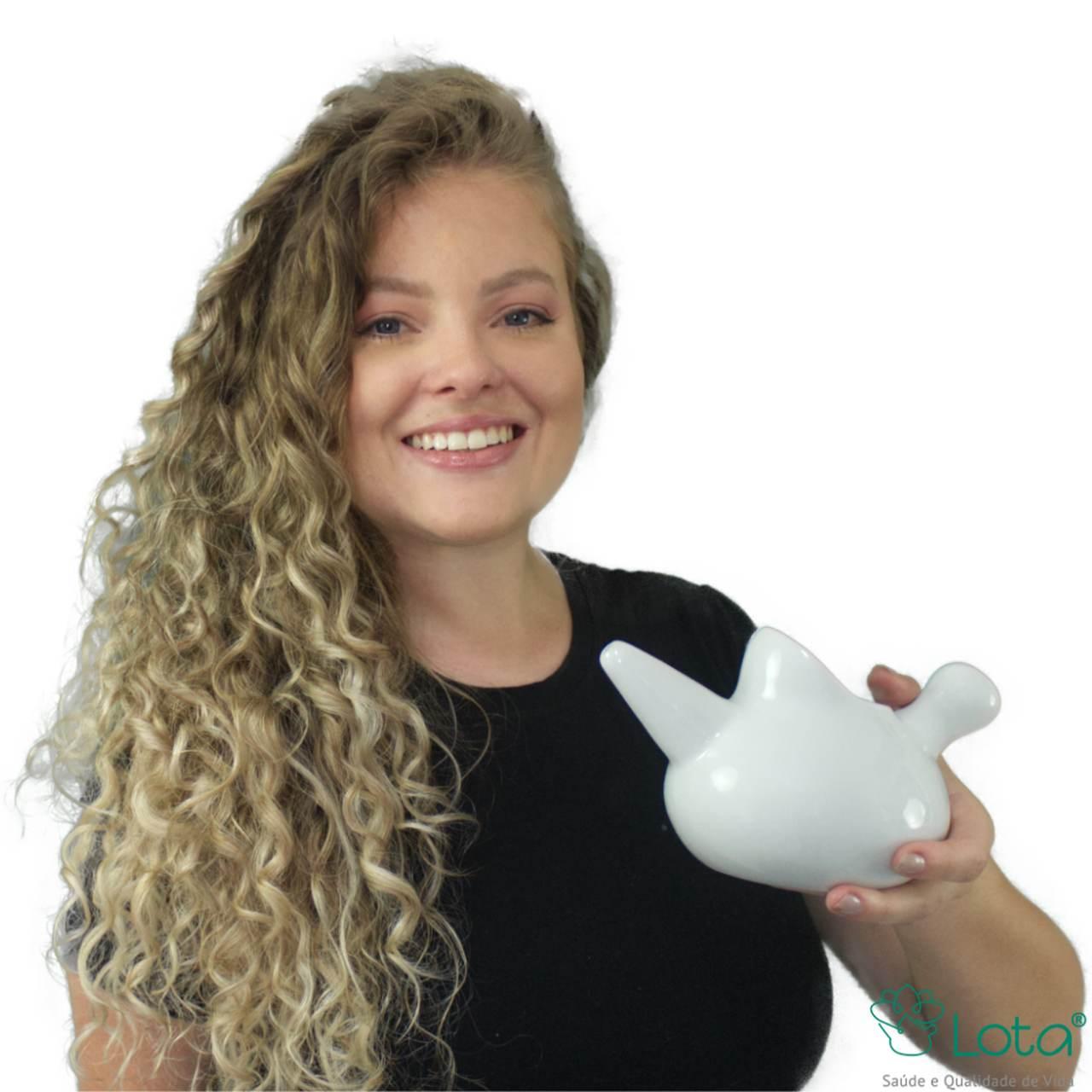 Lota Higienizador Nasal de Porcelana (Neti Pot) - Tam. P e G