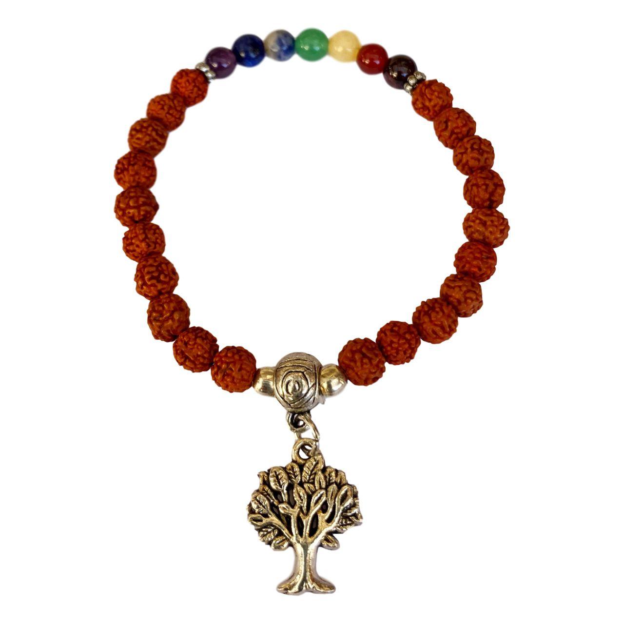 Pulseira Artesanal - Chakras e Árvore