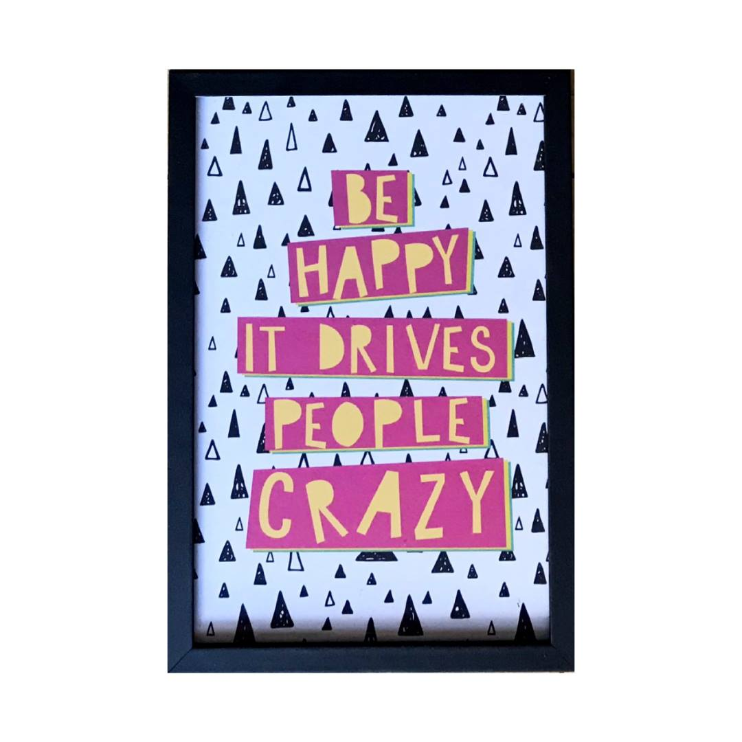 Quadro - Be Happy - 22x32cm