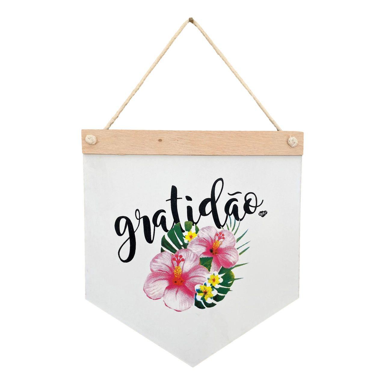 Quadro decorativo - Gratidão