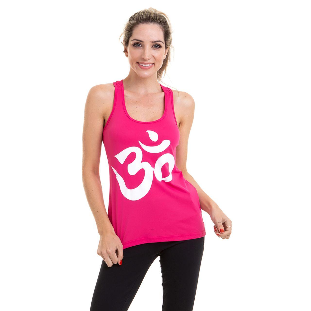 Regata Yoga  Poliamida - Om (Rosa)