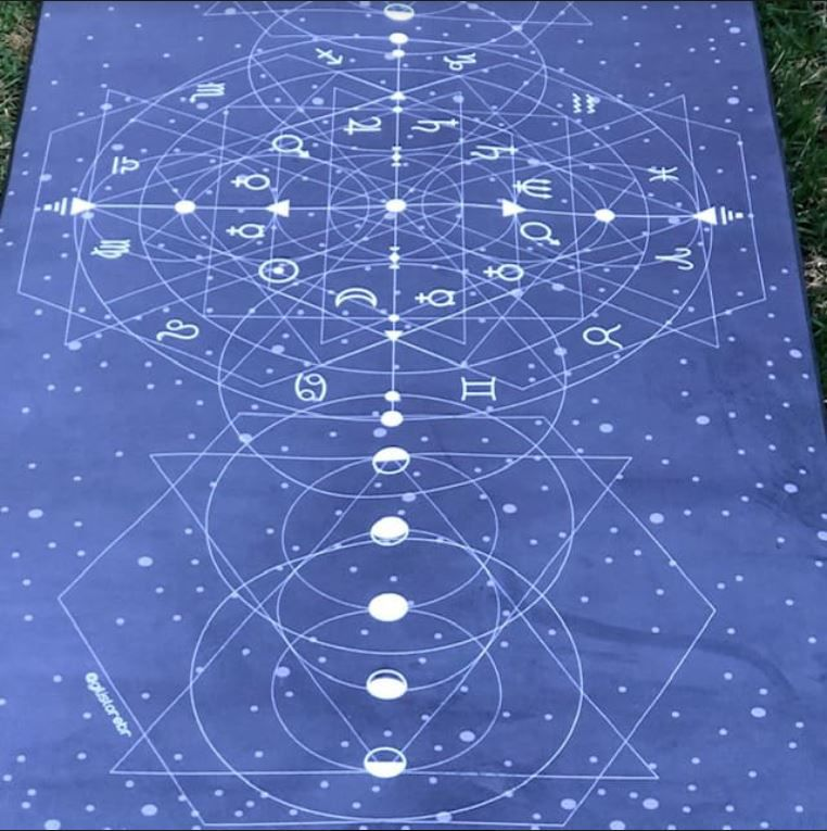 Tapete de Yoga Aveludado Astrologia