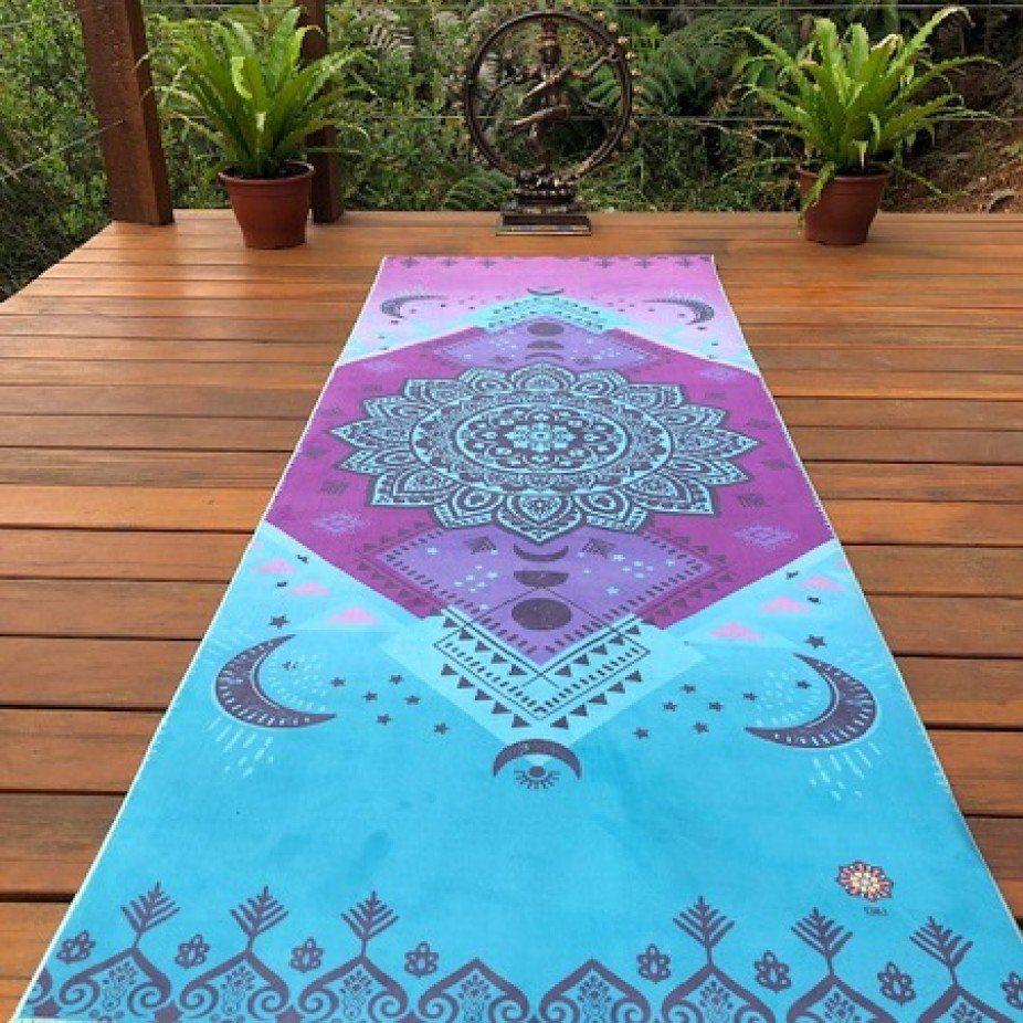 Tapete de Yoga Aveludado Fases da Lua