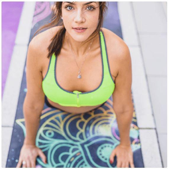Tapete de Yoga Estampado Aveludado - Universo