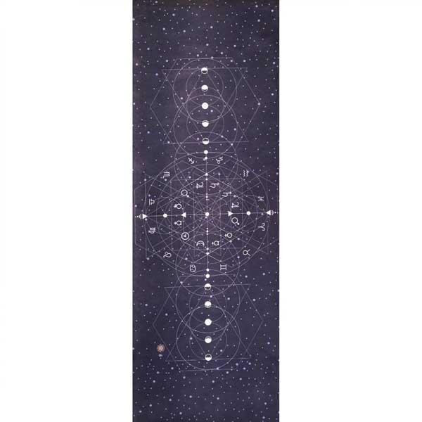 Tapete de Yoga Estampado Aveludado - Astrologia