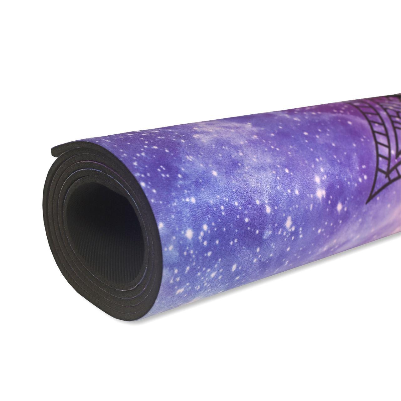 Tapete de Yoga Aveludado com Borracha Natural 183x68cm - Cosmos