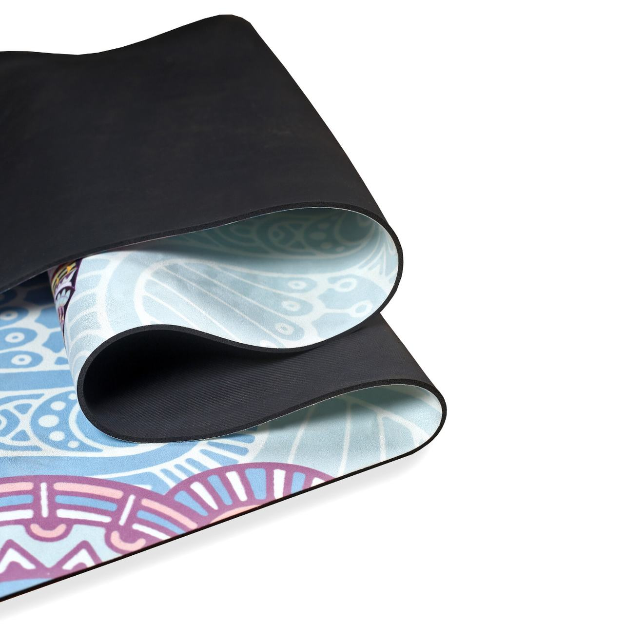Tapete de Yoga Aveludado com Borracha Natural 183x68cm - Elefante
