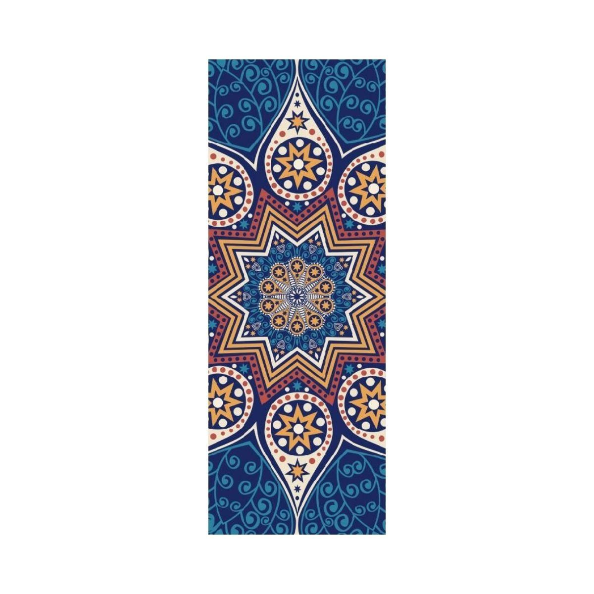 Tapete de Yoga Aveludado com Borracha Natural 183x68cm - Estrela