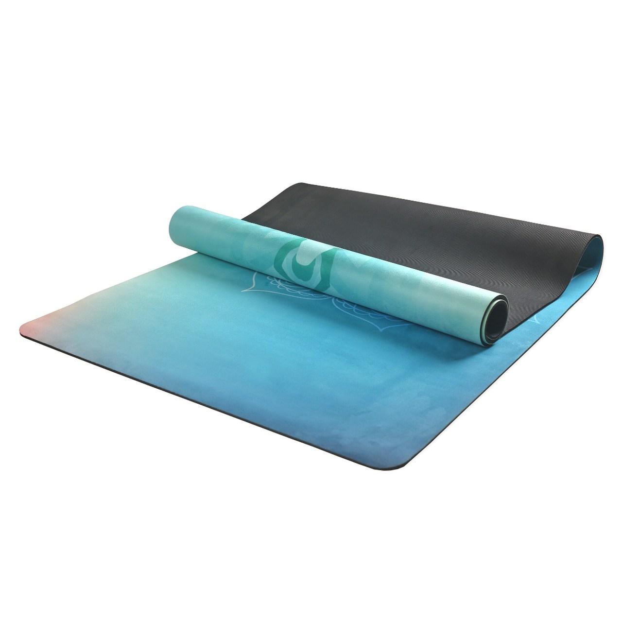 Tapete de Yoga Aveludado com Borracha Natural 183x68cm - Meditação