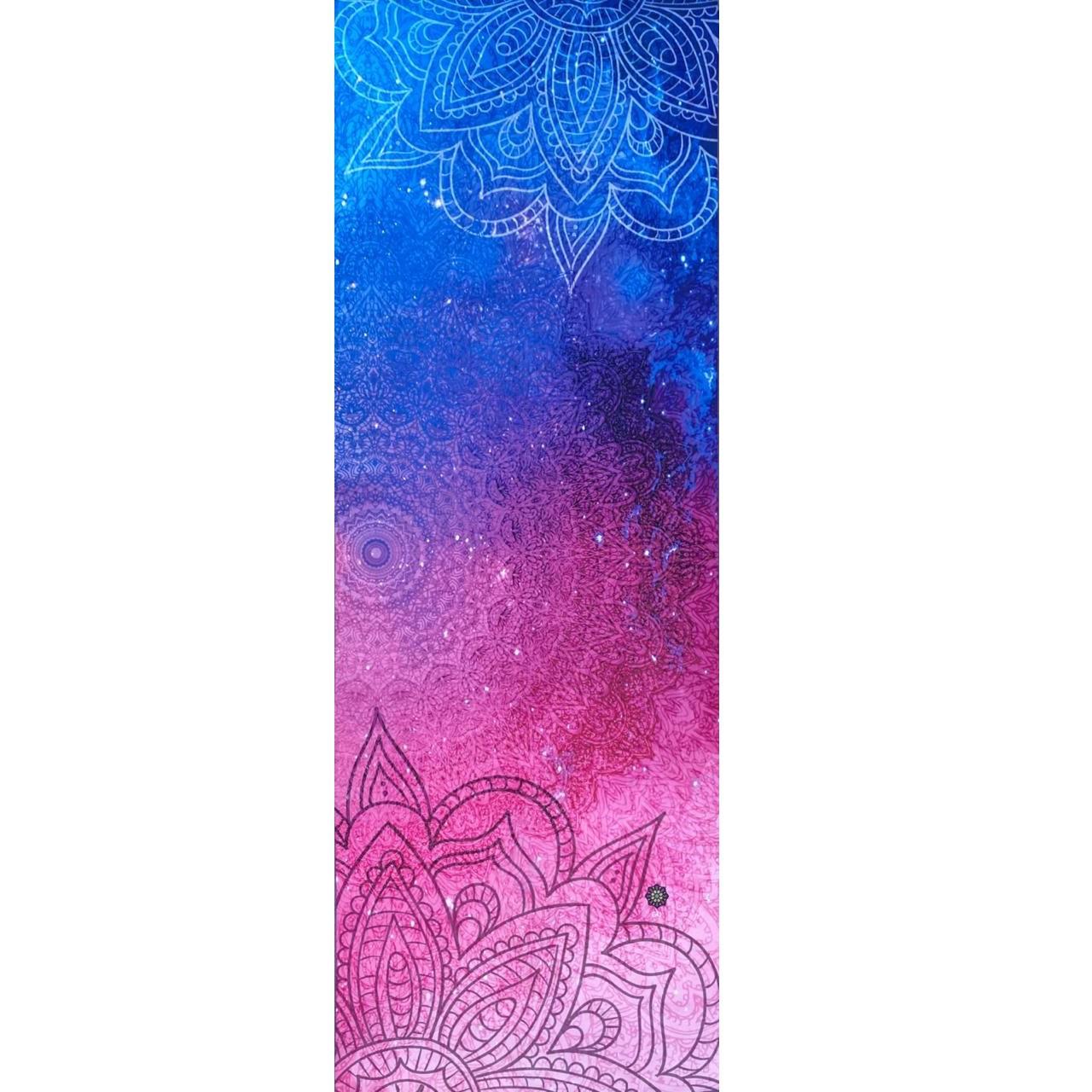 Tapete de Yoga Aveludado Galáxia