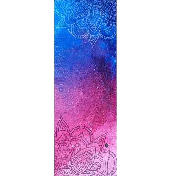 Tapete de Yoga Estampado Aveludado - Galáxia
