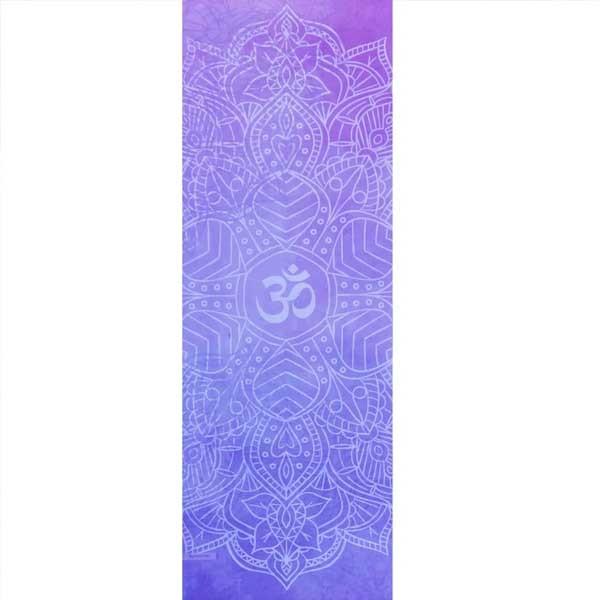 Tapete de Yoga Estampado Aveludado - Om Lilás