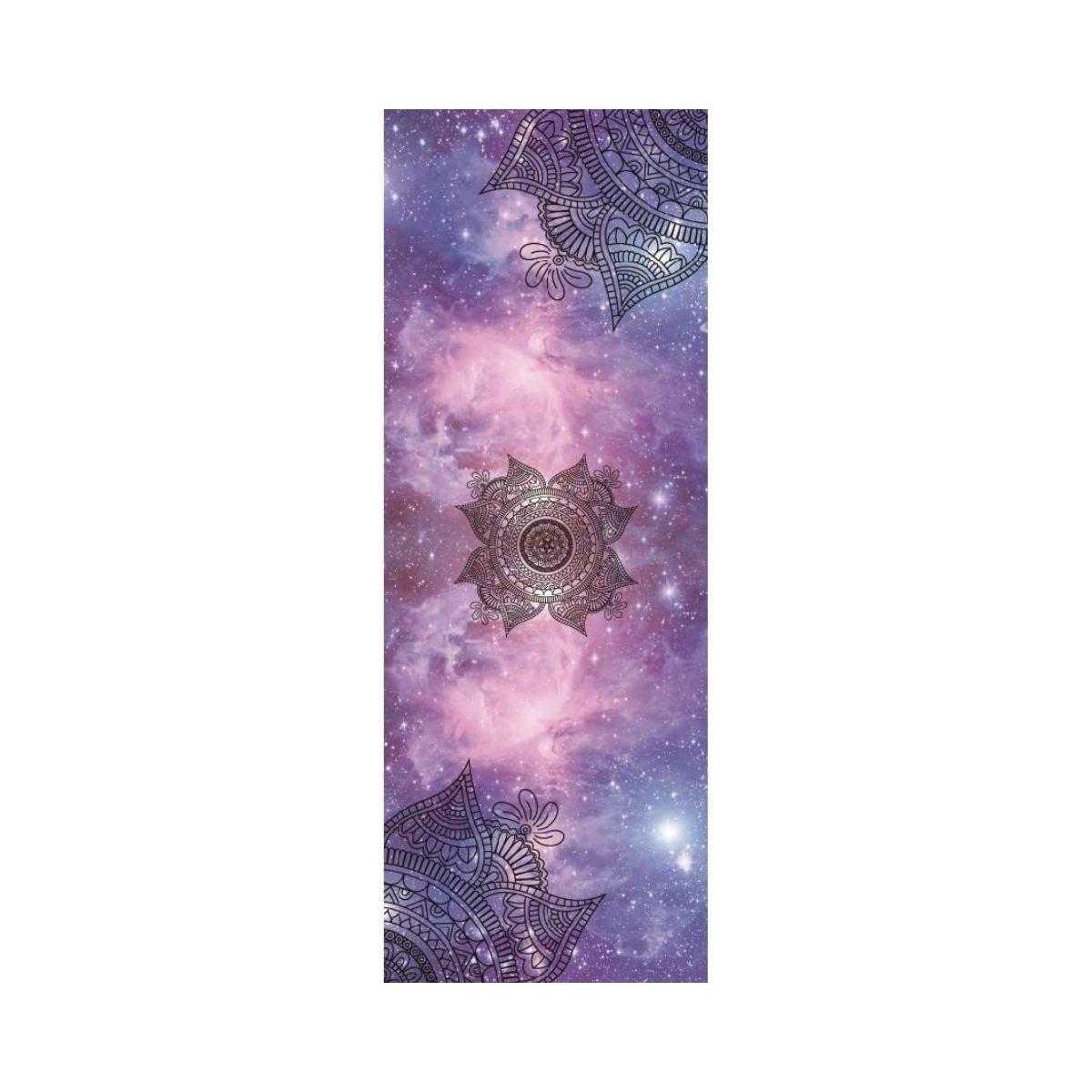 Tapete de Yoga Dobrável para Viagem Aveludado com Borracha Natural 1,5mm - Cosmos