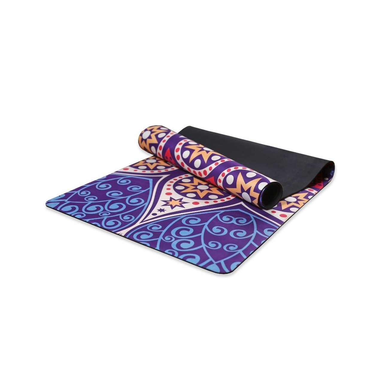 Tapete Yoga Dobrável Viagem Estrela - Aveludado + Borracha Natural 1,5mm