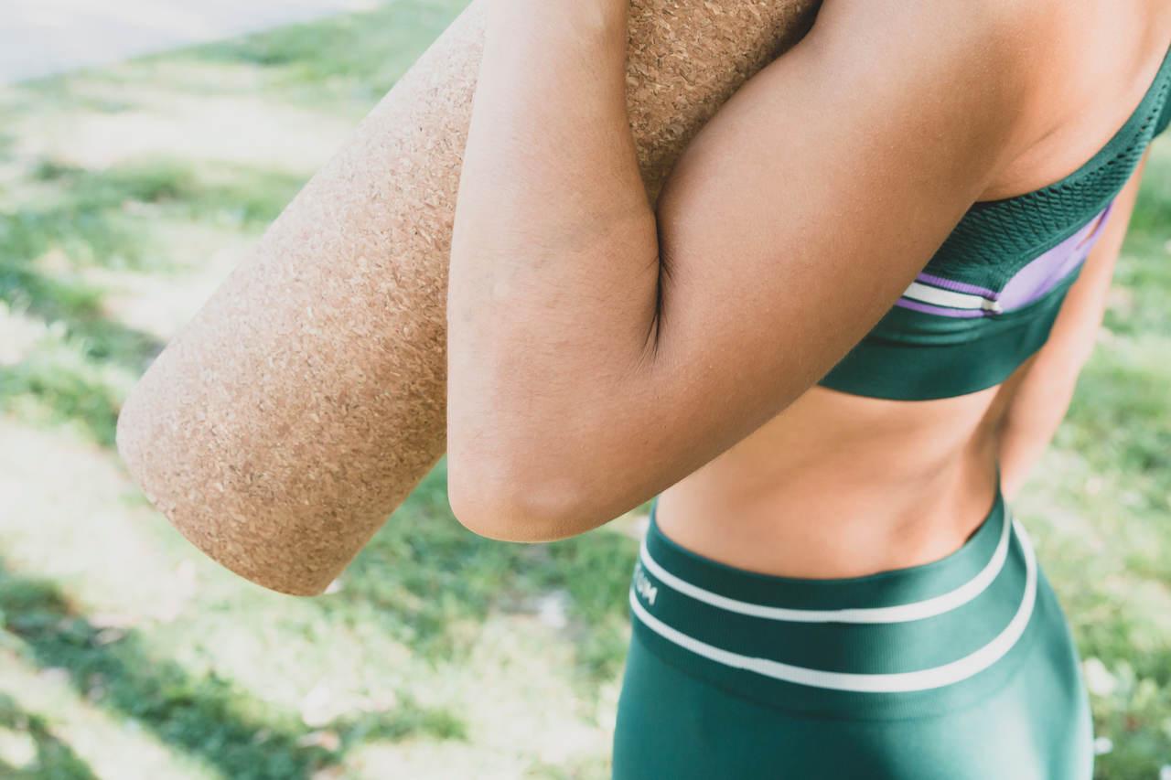 Tapete de Yoga em Cortiça Natural - Ecológico