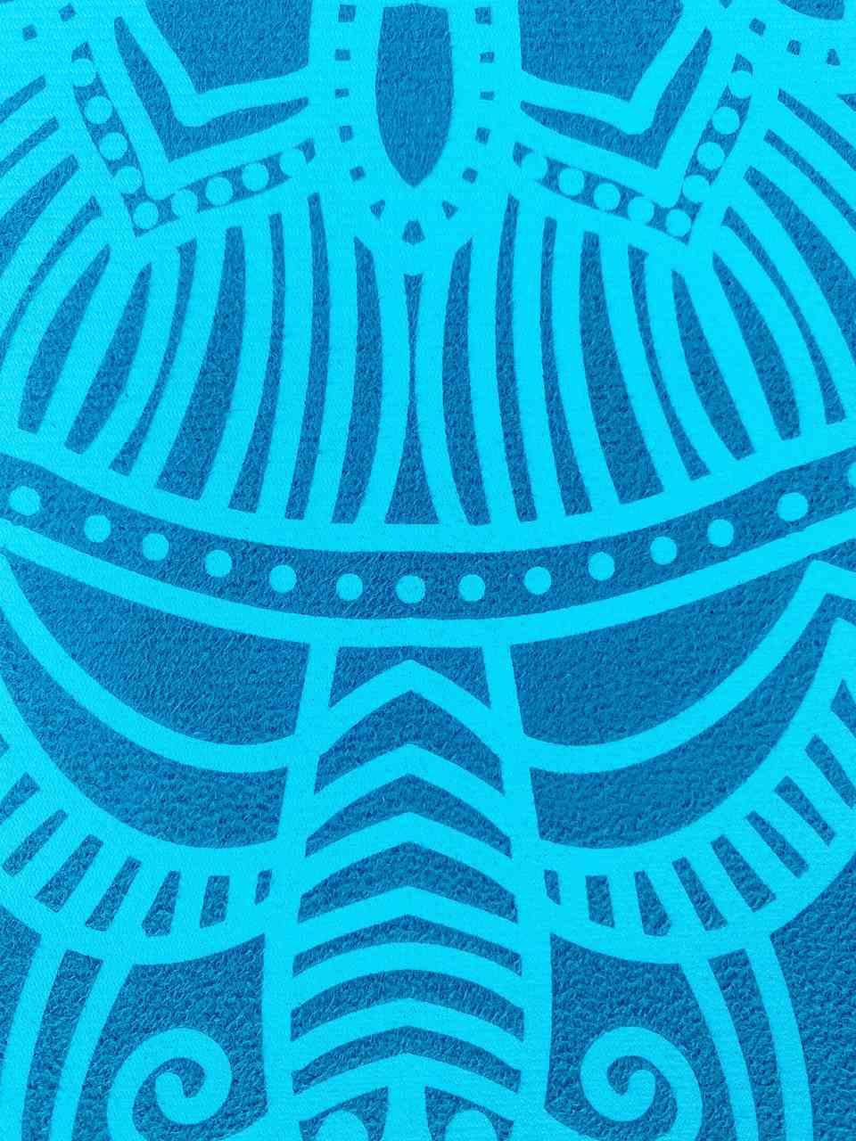 Tapete de Yoga Estampado Aveludado -  Esmeralda Mandala