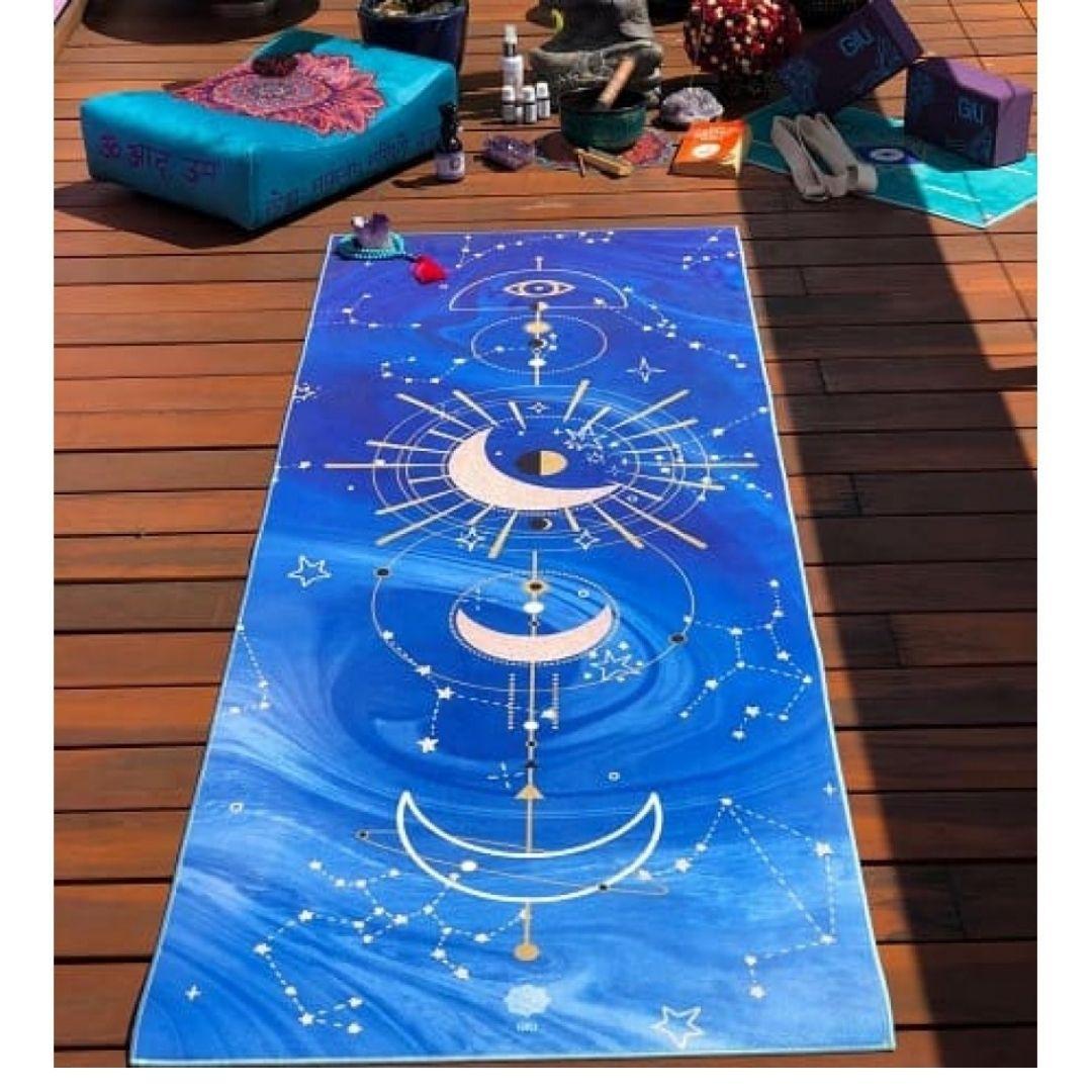 Tapete de Yoga Estampado Aveludado - Zodíaco