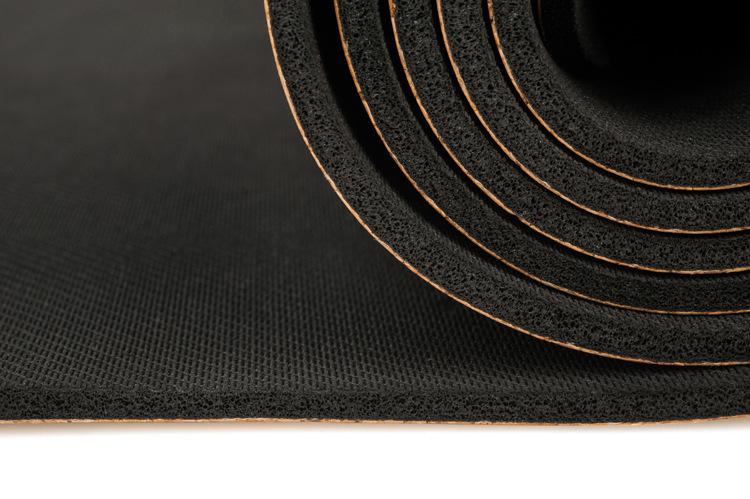 Tapete de Yoga Estampado - Cortiça e Borracha Natural - Elefante - 5mm 183x68cm