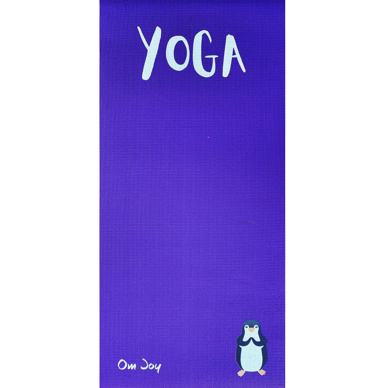 Tapete de Yoga Infantil PVC Estampado Kids - Max, o Pinguim