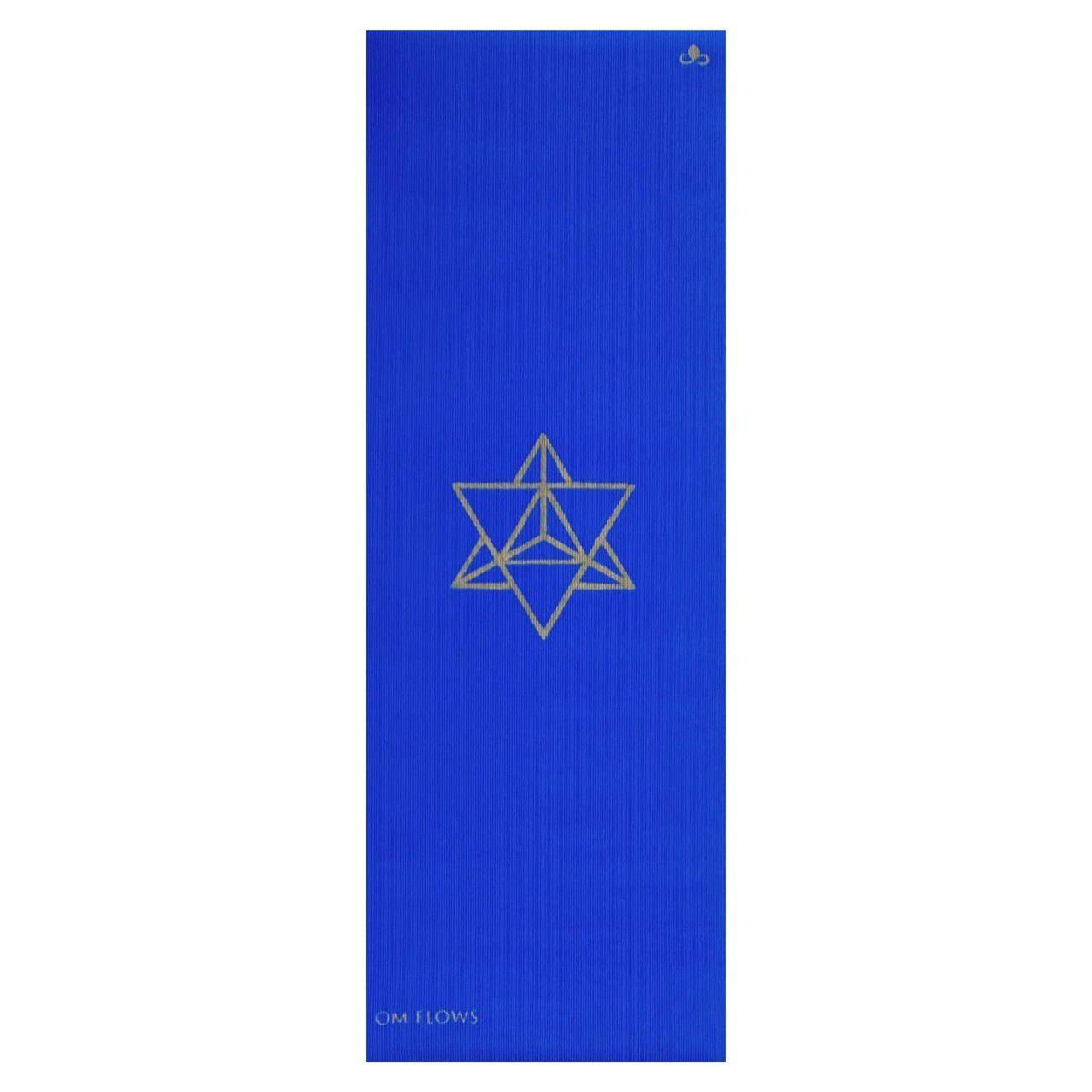Tapete de Yoga Om Flows - Merkaba (Azul)