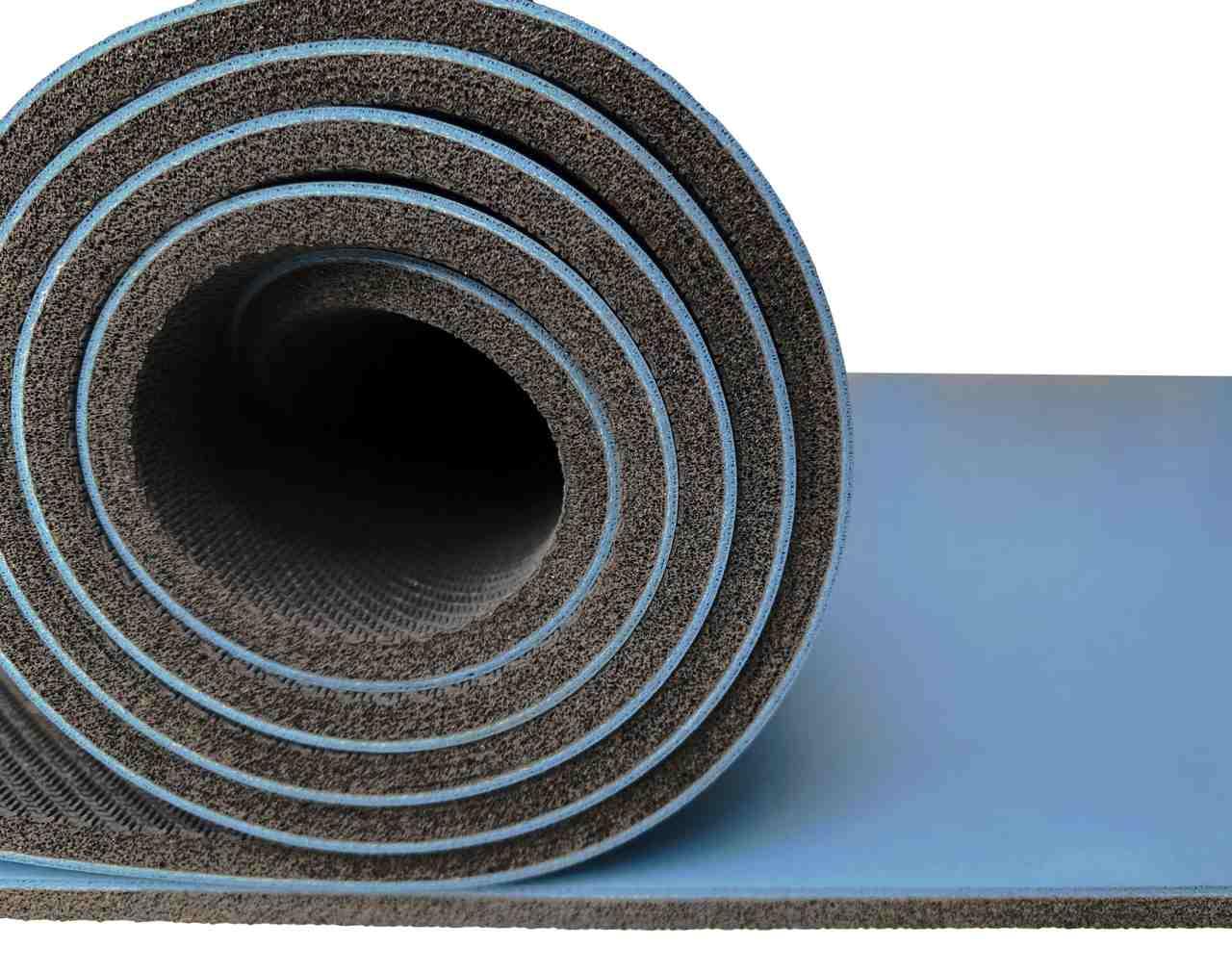 Tapete de Yoga Mat - PU com Borracha Natural - Antiderrapante Azul