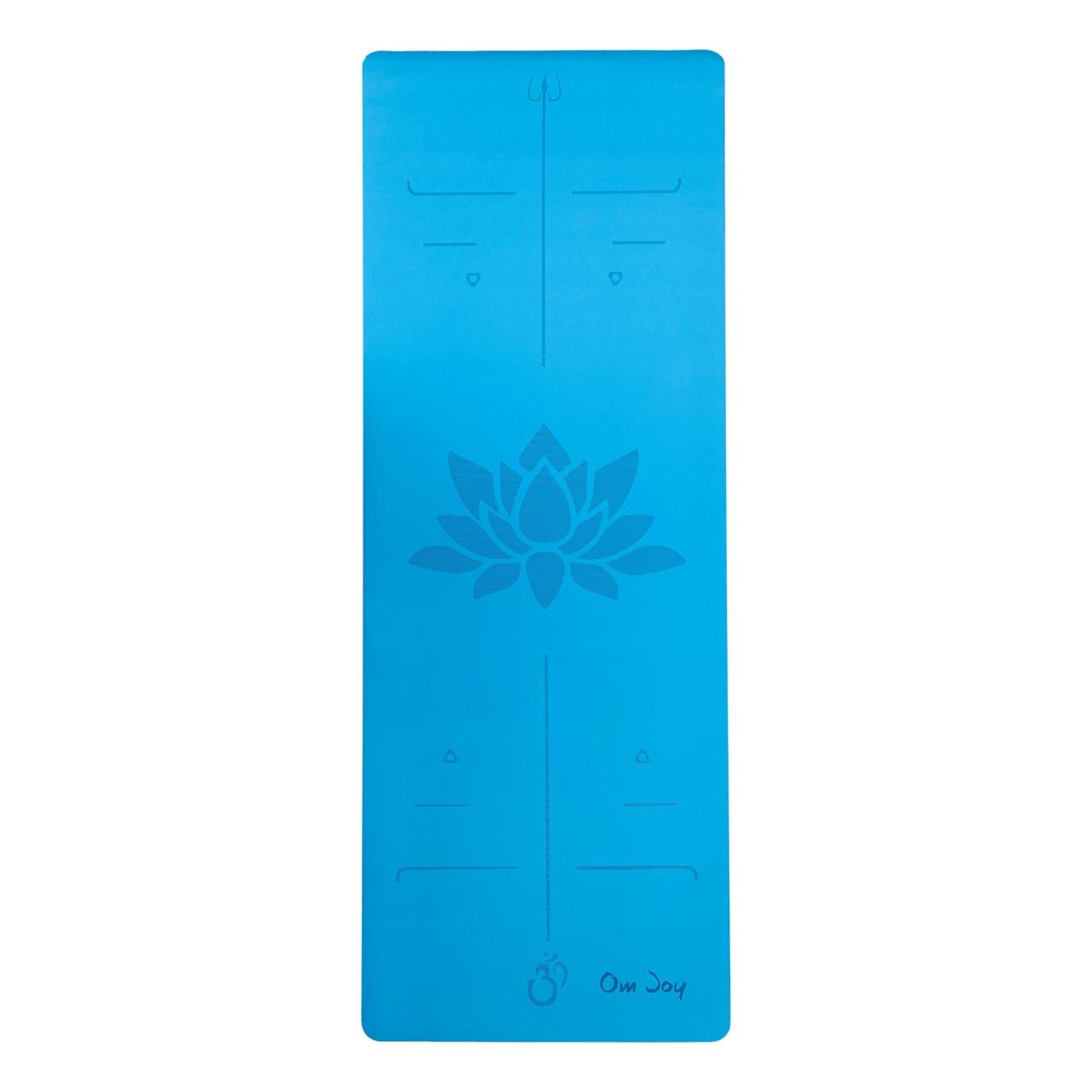 Tapete de Yoga PU Antiderrapante com Linhas de Postura