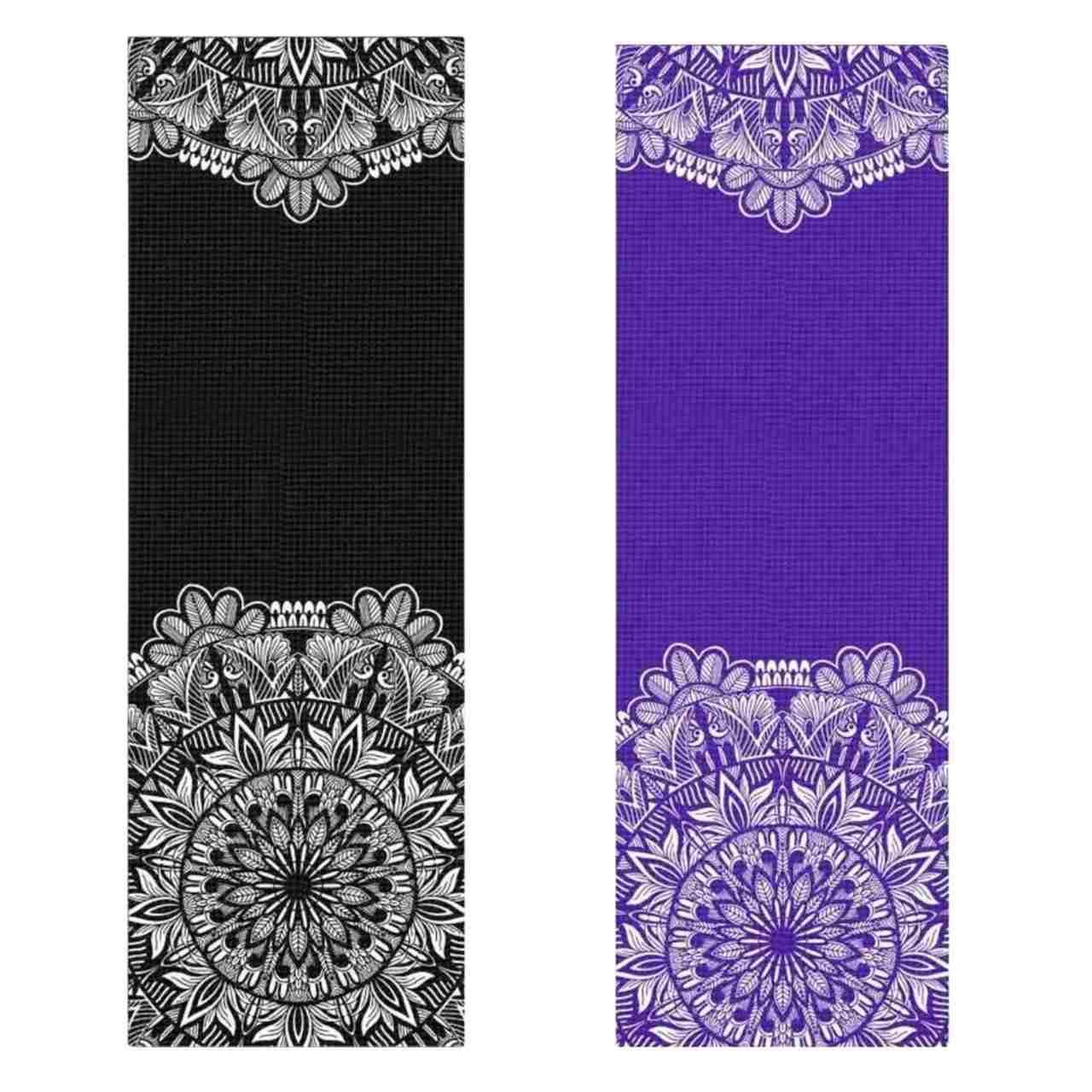 Tapete de Yoga PVC Estampado - Floral