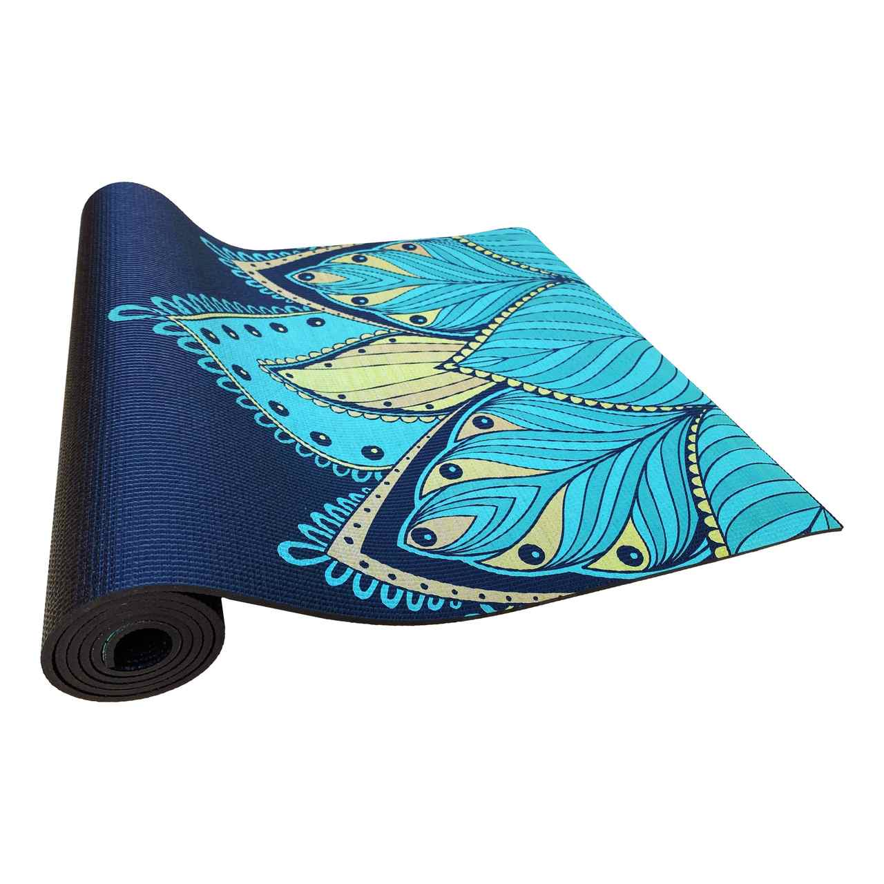 Tapete de Yoga PVC Estampado - Floral Om