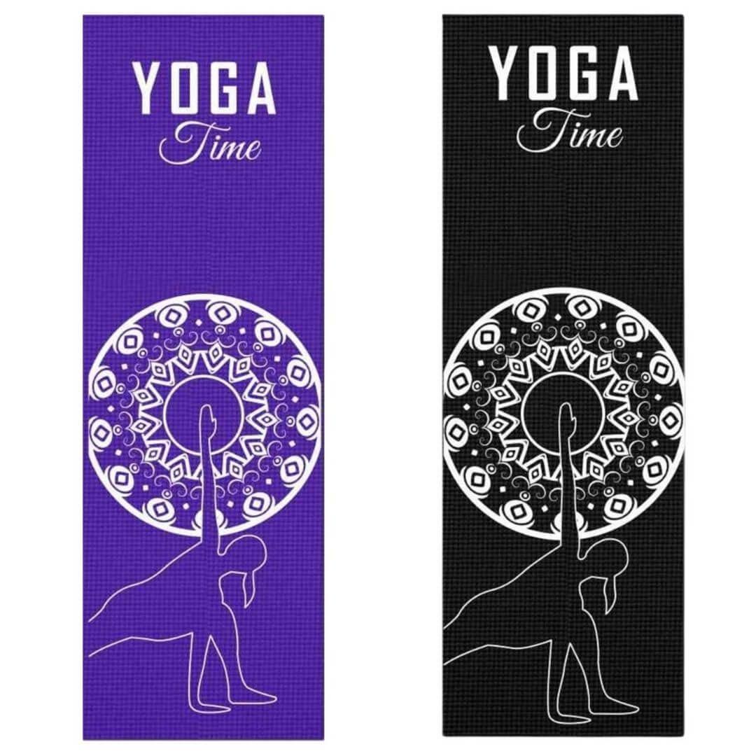 Tapete de Yoga PVC Estampado - Lateral