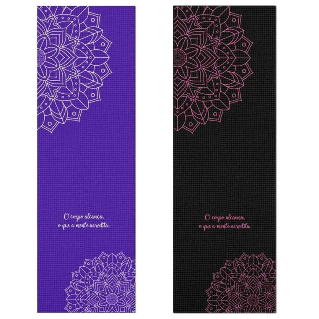 Tapete de Yoga PVC Estampado - Mandala e Frase