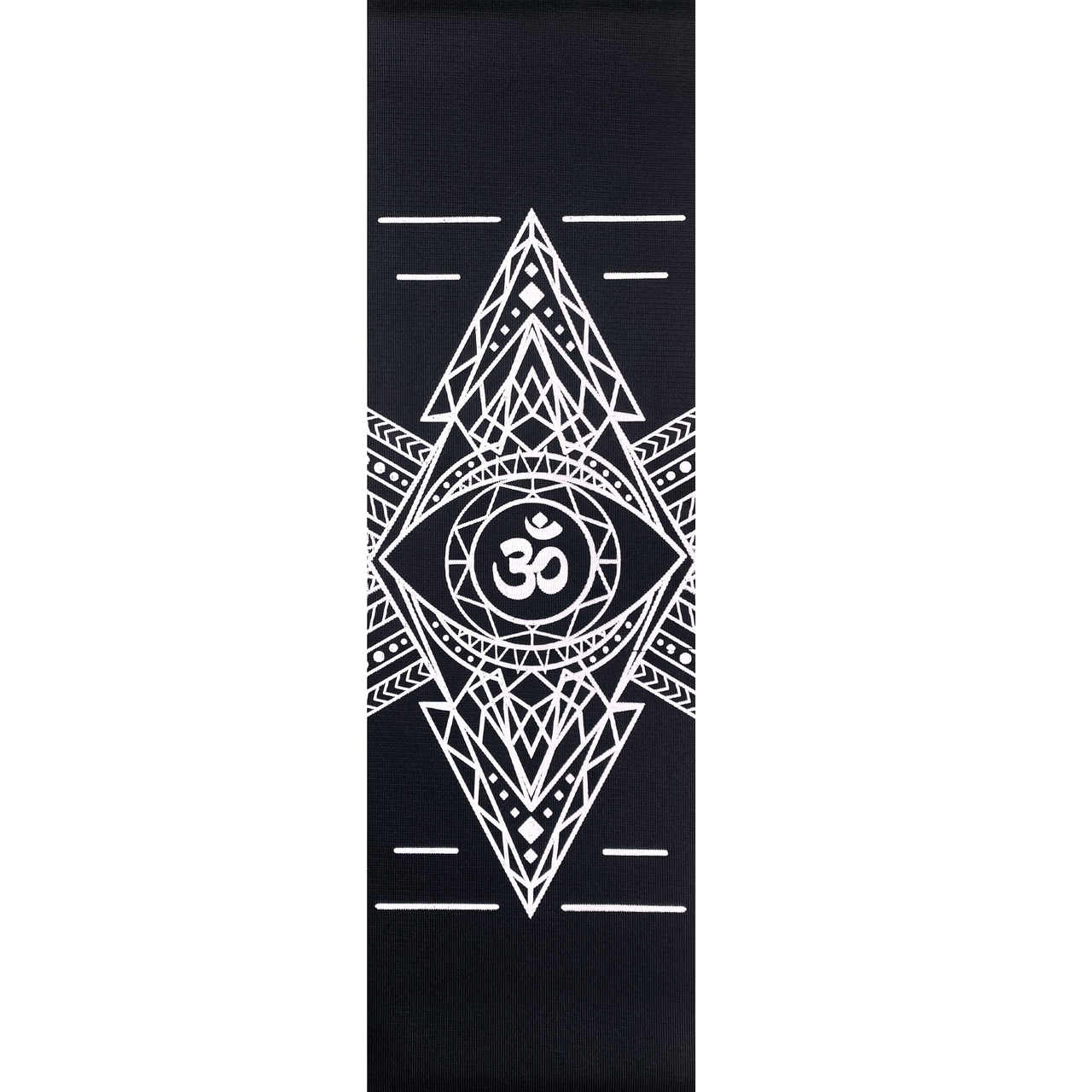 Tapete de Yoga PVC Estampado - Om - Preto