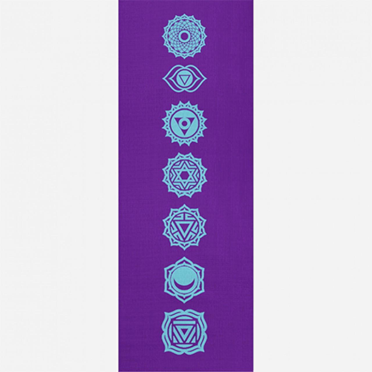 Tapete de Yoga PVC Estampado - Chakras - Roxo