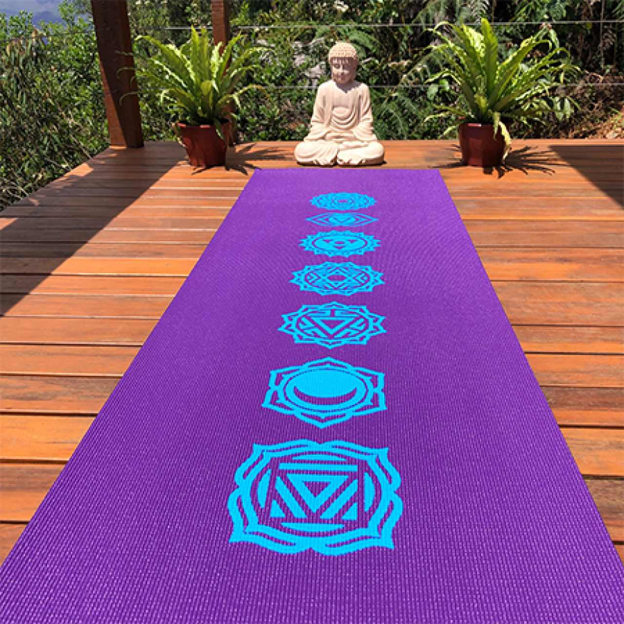 Tapete de Yoga PVC Premium - Chakras - Roxo
