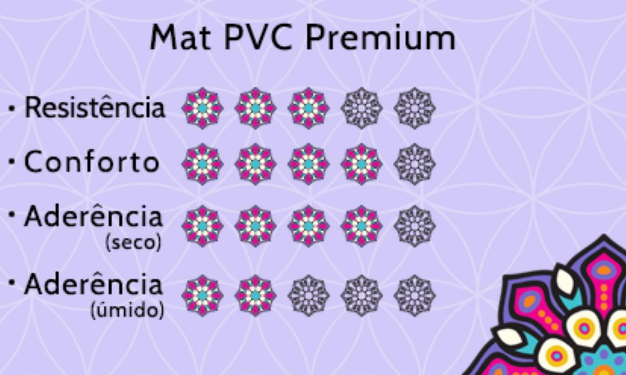 Tapete de Yoga PVC Premium - Om - Roxo