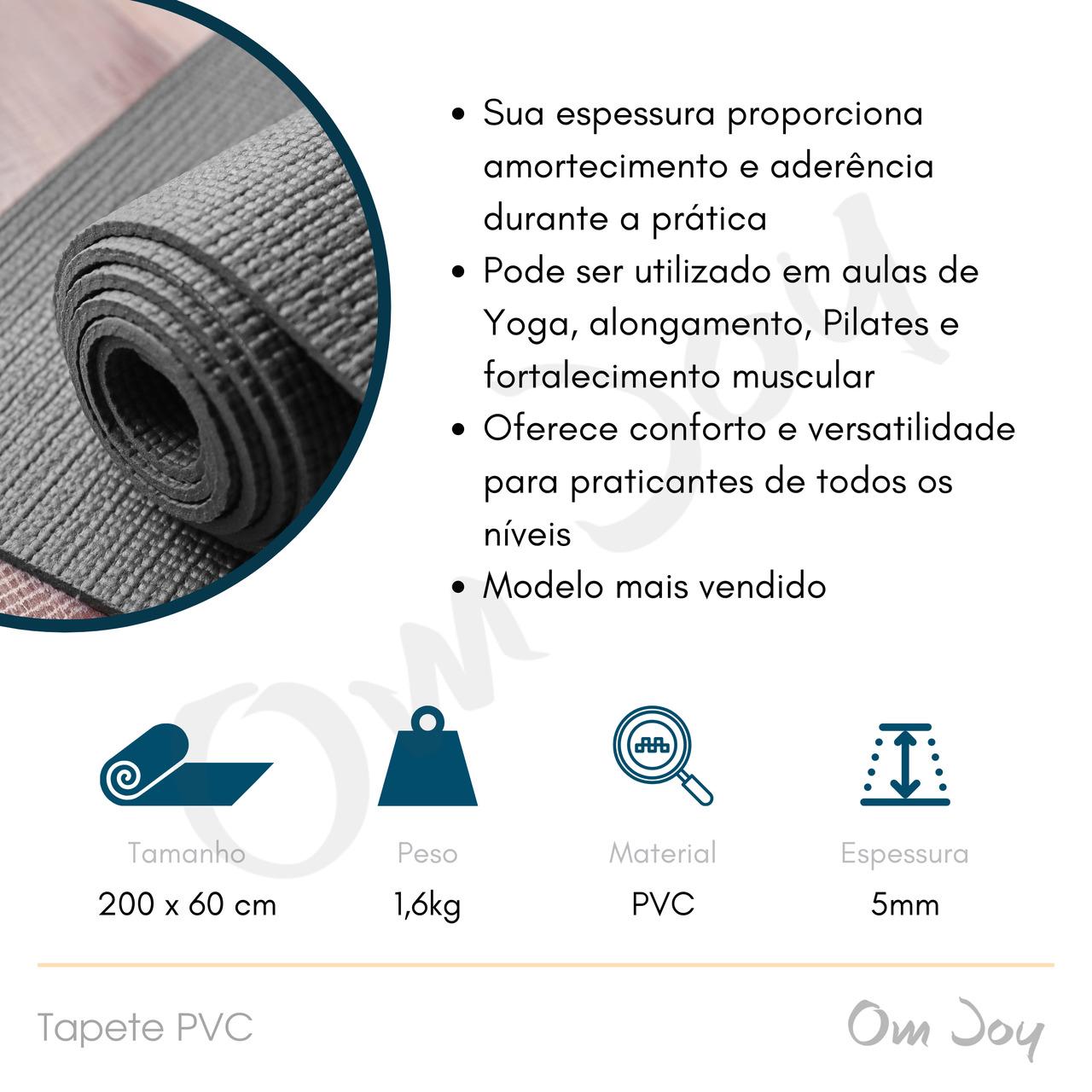 Tapete Premium de Yoga / Pilates - PVC - 200x60cm