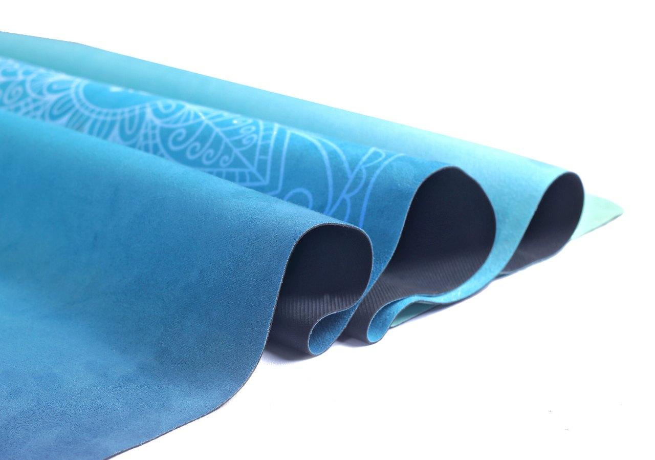 Tapete Yoga Dobrável Viagem Meditação - Aveludado + Borracha Natural 1,5mm