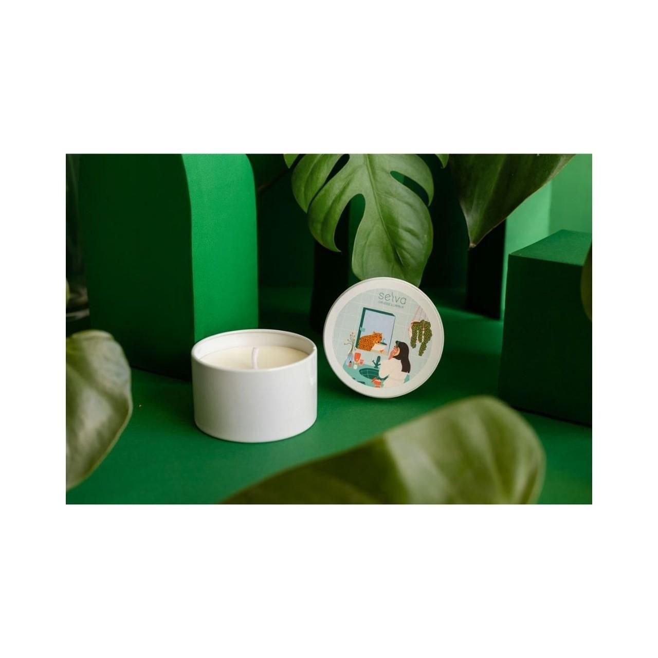 Vela Selva - Artesanal e ecológica - Laranja e Chá Verde - 100g