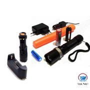 Kit Lanternas Táticas LED CREE Q5:  Média Swat F-79 + Mini 980000W