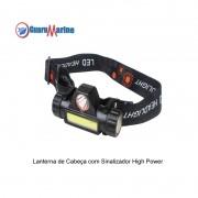 Lanterna De Cabeça Profissional LED + Sinalizador