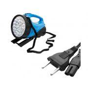 Lanterna Holofote 30 LEDS Recarregável Bivolt - Frete Grátis