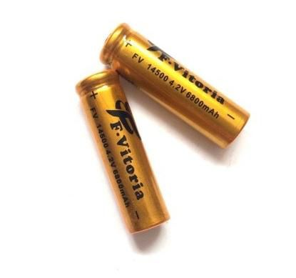 Bateria 14500 6800 mAh para Lanterna Tática (2 unidades)