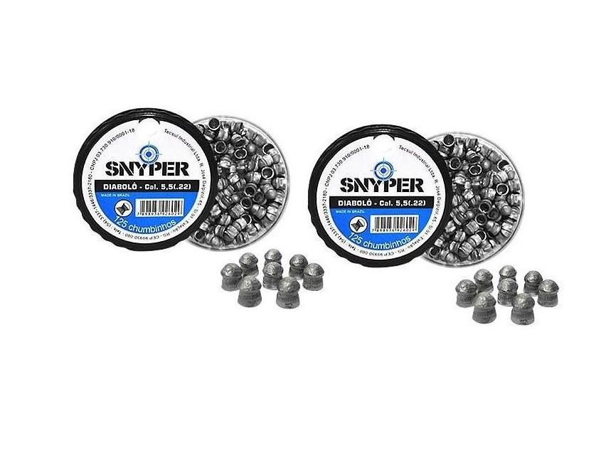 Chumbinho Diabolô 5.5 mm Snyper (2 caixas)
